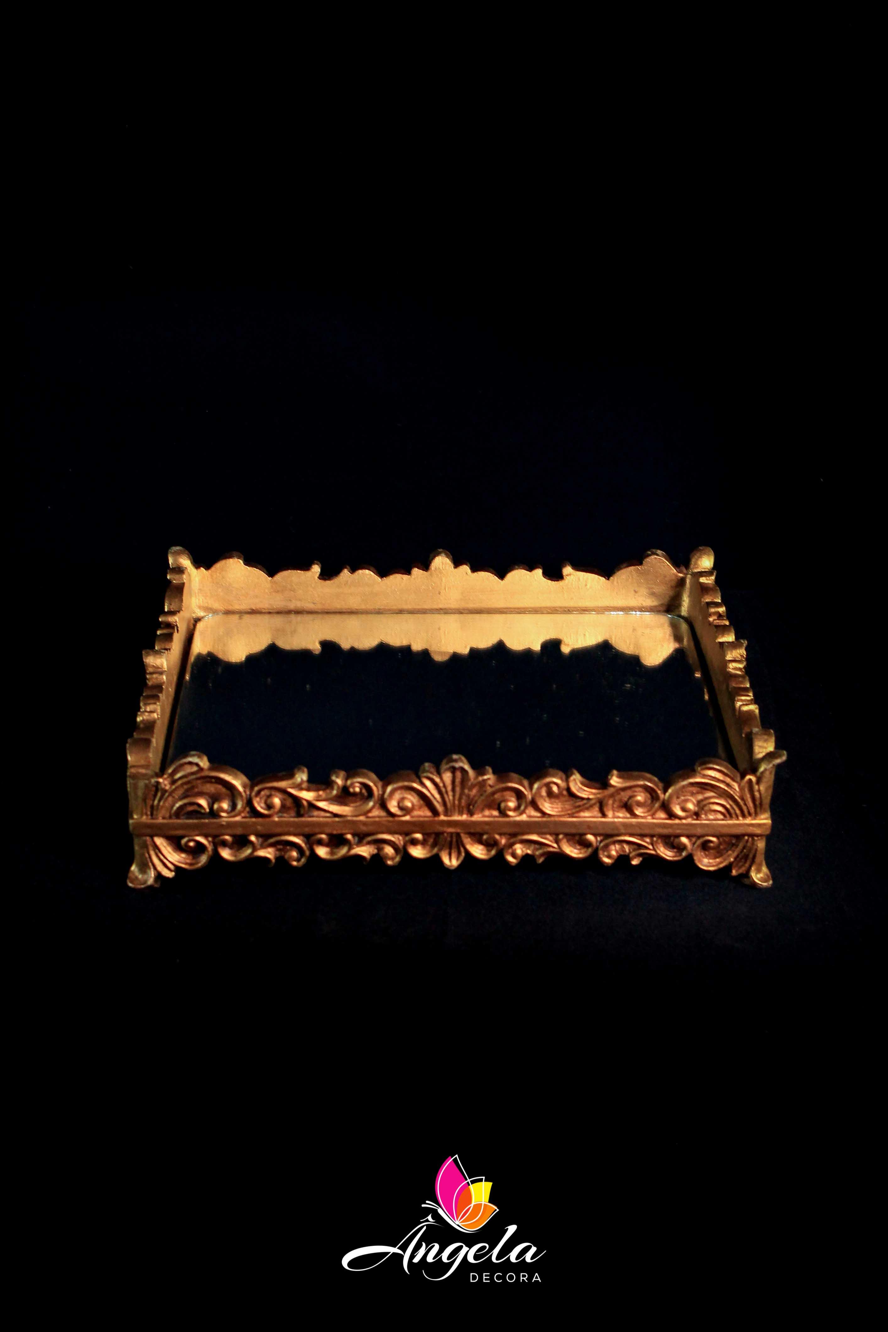 Bandeja Paris Quadrada Dourada