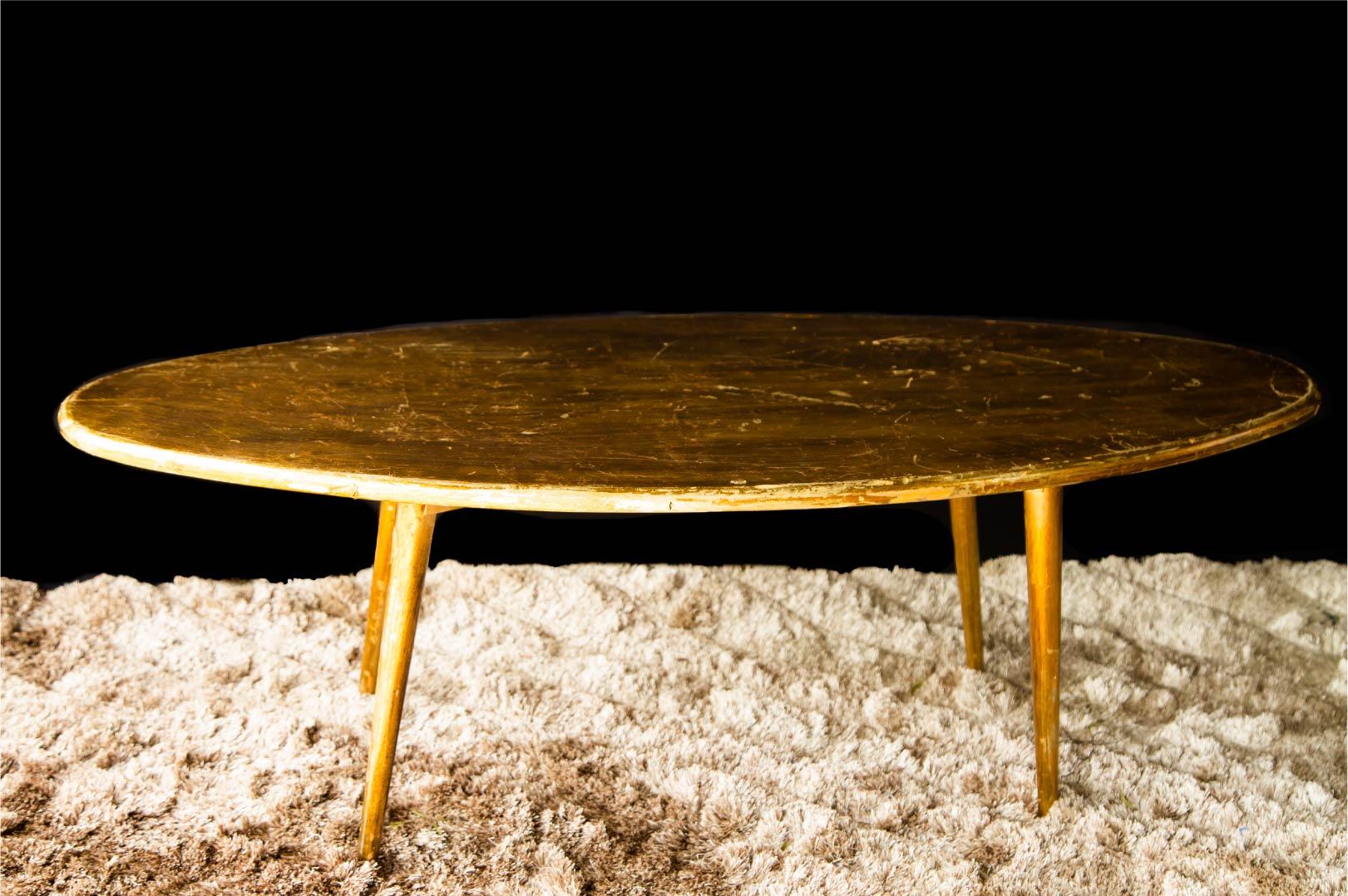 Mesa Oval Dourada