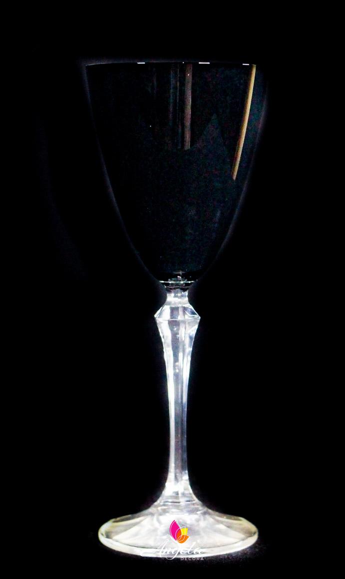 Taça de Vinho Elisabeth - 250ml Preta